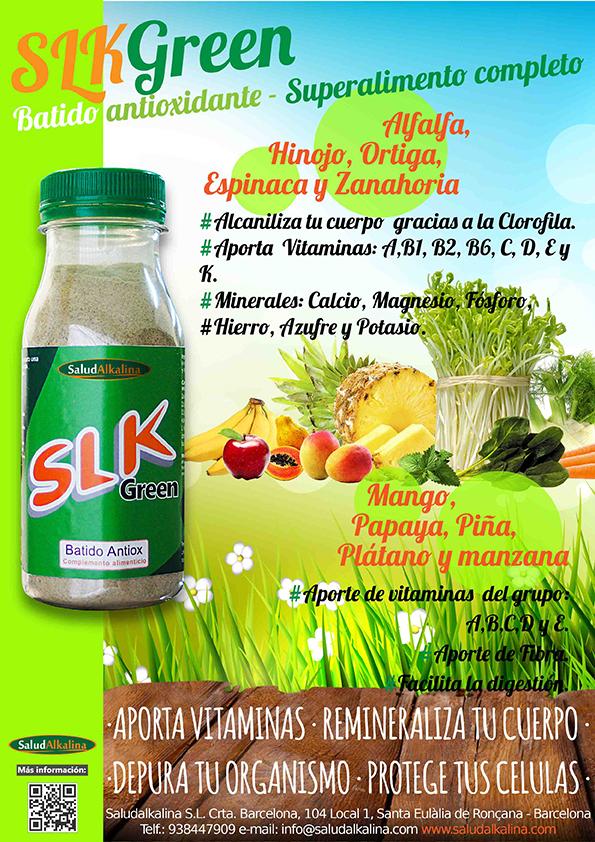 SLK green | Batido vegetal antioxidante